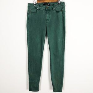 Liverpool Los Angeles green skinny jeans